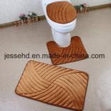 Flanell-Badezimmer-Fußboden-Matten-Set der Wholeable Form-3PCS
