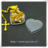 中心のプラスチック荷箱、数珠ボックス、宗教数珠(IOp027)