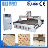 Tabela vantajoso para as duas partes do router do CNC da linha central de Ww2040s 3 para o Woodworking, anunciando