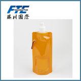 Bottiglia di acqua pieghevole di plastica calda all'ingrosso di promozione di vendite