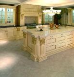 Luxuxart geschnitzter Bauholz-Küche-festes Holz-Küche-Schrank
