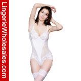 Nounours de vente chaud de lacet et de Fishnet avec la lingerie sexy de sous-vêtements de courroies de Gater