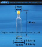 De Fles van het Glas van de Olie van de sesam met Plastic Kappen