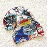 Chapeaux de natation élastiques de Lycra et impression de qualité