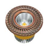 Projector de bronze e Downlight da ESPIGA do diodo emissor de luz com revestimento do ouro 24k