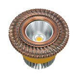 Proyector de cobre amarillo del LED con final del oro 24k