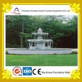 Petite fontaine extérieure de marbre de cygne de fontaine d'eau de sculpture