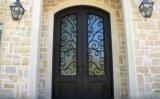 Рук-Выкованная шикарная дверь входа фронта утюга с транцем