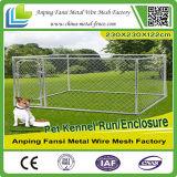Canil galvanizado do cão da cerca do ferro do engranzamento de fio de aço