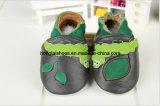 Lion chaussures de bébé du cuir véritable de peu de KIS