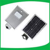 Lista de precios solar integrada caliente de la luz de calle de la venta los 5m poste 12W LED para al aire libre