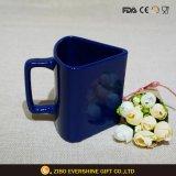 創造的な整形デザインロイヤルブルーの陶磁器のコーヒー・マグ330ml