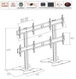 "영상 Wall Stand Floorbase 4 Screens 40-55 "" (2*2) (AW 400A)"