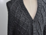 Donne Winter Cardigan Knitwear con Button