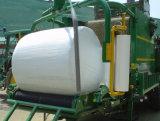 Cor do verde da largura 250mm/500mm/750mm Thickness25um da película da bala da ensilagem, a branca e a preta