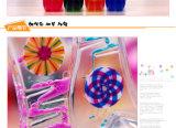 Acrílico colorido aceite líquido reloj de arena de juguete