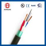Cable óptico acorazado de fibra de 204 bases de los productos GYTS de la telecomunicación