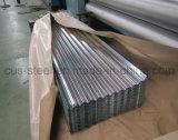(0.125mm-1.3mm) Folha de aço ondulada galvanizada mergulhada quente da telhadura