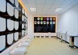Siège des toilettes rond blanc de Duroplast d'urée à haute brillance de carte de travail