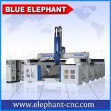 Маршрутизатор CNC оси профессионала 4 Китая, гравировальный станок Atc роторный