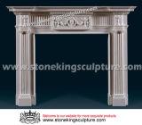 石造り暖炉のマントルピースの大理石の暖炉(SK-1580)