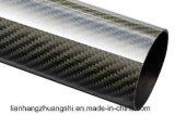 Tubo superior de la fibra del carbón de poste 3k del tubo de la fibra del carbón de la venta