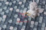 極度の白い石造りの組合せのクリスタルグラスのモザイク(CS106)