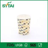 Tazza di caffè di carta a parete semplice di marchio su ordinazione caldo rivestito di vendita del PE