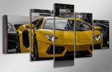 HD afgedrukt Geel het Schilderen van het Beeld van de Sportwagen Canvas mc-123 van het Beeld van de Affiche van het Af:drukken van het Decor van de Zaal van het Af:drukken van het Canvas van de Kunst van de Muur