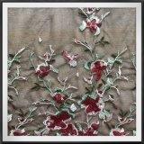 ナイロン網の刺繍のレースの花および蝶刺繍のレース