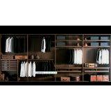 Modernes Luxuxbrown-Melamin-Holz-geöffneter Wandschrank für Garderobe