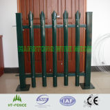 Dipped quente Galvanized e PVC Coated Palisade Fencing