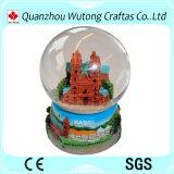 Globo turístico del agua de los regalos del globo suizo de la nieve del recuerdo de la resina