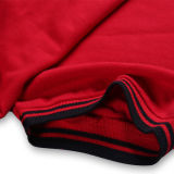 Chemise de polo faite sur commande de Mens de qualité de couleur rouge