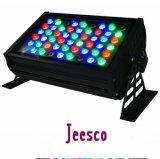 luz de inundação da arruela Light/LED da parede do diodo emissor de luz de 54*3W RGBW