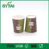 Einzelne Wand PET überzogene Qualität Disposablecoffee Papiercup mit Firmenzeichen