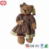 Peluche encantadora do presente das empregadas domésticas do brinquedo da menina do urso do luxuoso melhor