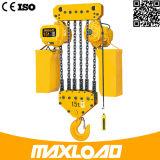 Grua Chain elétrica de 5 toneladas com tipo fixo do gancho (HHBB05-02SF)