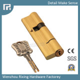 Seguridad de cobre amarillo Rx-09 de la chavetera abierta de la lámina del doble de Cylinde de la cerradura de puerta
