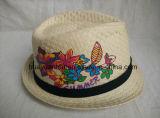 100% de papel con la borda del sombrero de ala