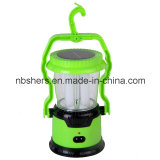 Torche campante à 2 modes de fonctionnement solaire de la lanterne 1 DEL de 8 DEL