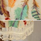 Le donne slacciano la maglietta mezza di Chiffion del Crochet del manicotto