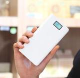 carregador de bateria 20000mAh portátil com indicador do LCD & saída dobro para o telefone esperto