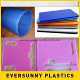 Лист пластмасс PP высокого качества рифлёный для пакета