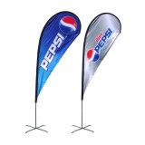 Bandiera dell'interno, doppia stampa di pubblicità dell'interno della bandiera