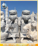 Granit-asiatische Schutz-Löwen