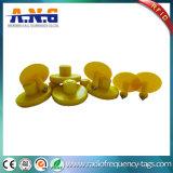 jaune animal d'étiquettes d'IDENTIFICATION RF passive d'à haute fréquence de 8g NFC petit avec la puce Ntag213