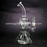 De beste Verkopende Zwarte Waterpijp Czs043 van de Recycleermachine van het Glas van de Kleur