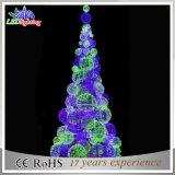 Luz colorida da árvore de Natal da esfera 3D da decoração do feriado do diodo emissor de luz