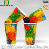使い捨て可能な二重PEはソーダ冷たい飲み物によって印刷された紙コップに塗った